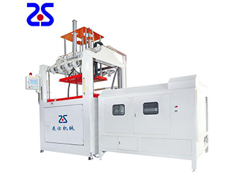 Automatic two-station thick plate blister machine