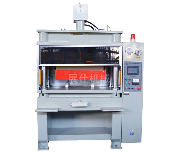 Hydraulic cutting integrated sun visor high frequency welding machine